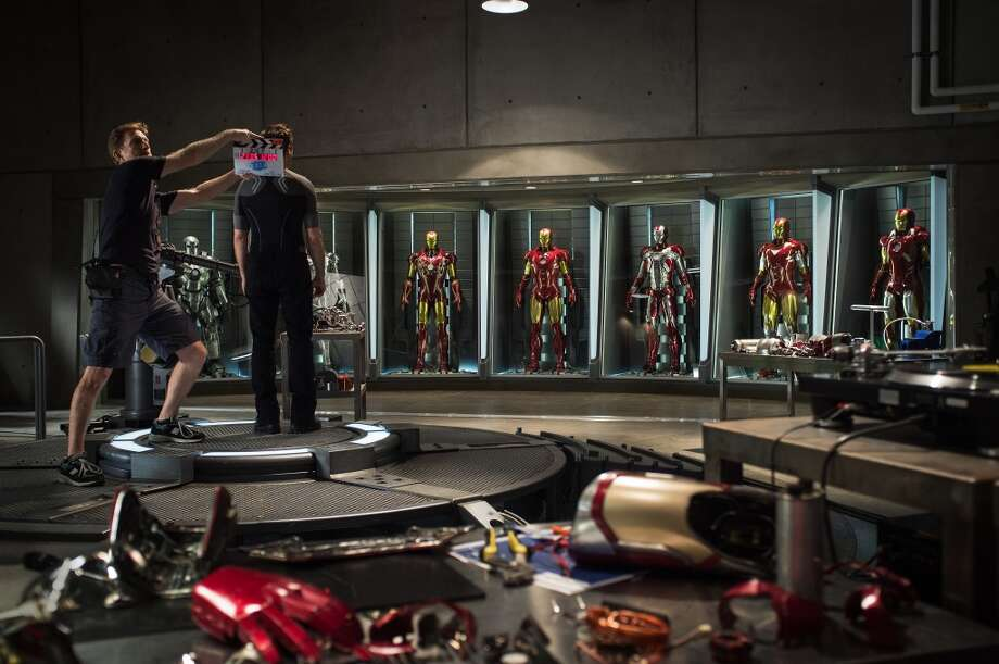 """Iron Man 3""..Tony Stark/Iron Man (Robert Downey Jr.) Behind the Scenes at the start of production...Ph: Zade Rosenthal..TM & © 2012 Marvel & Subs. All Rights Reserved. www.marvel.com"