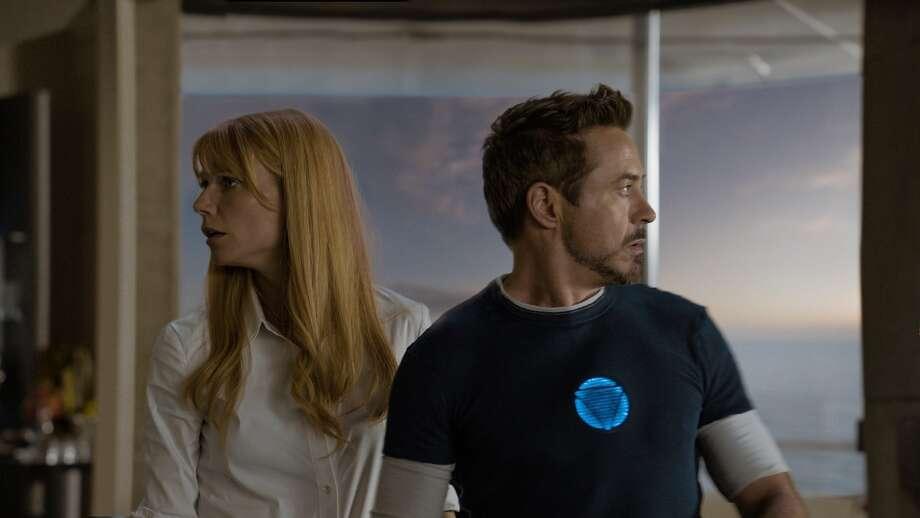 """Marvel's Iron Man 3""  L to R: Pepper Potts (Gwyneth Paltrow) & Tony Stark/Iron Man (Robert Downey Jr.)  Ph: Film Frame  © 2012 MVLFFLLC.  TM & © 2012 Marvel.  All Rights Reserved."