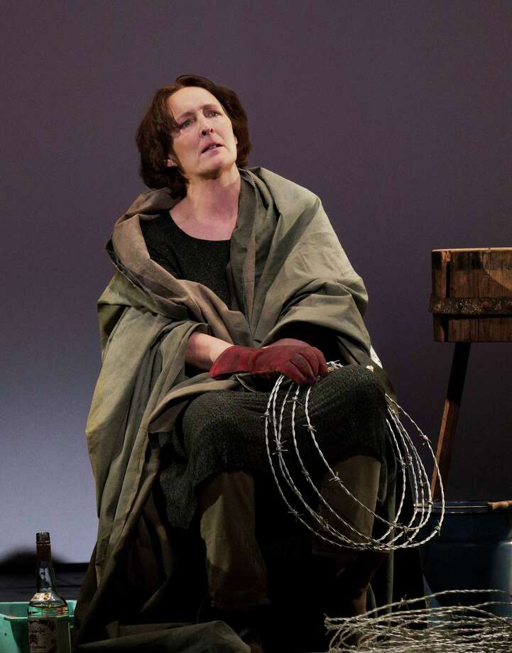 "This undated publicity photo provided by Philip Rinaldi Publicity shows Fiona Shaw as Mary in a scene from play, ""The Testament of Mary,"" by Colm Toibin, which opens Monday, April 22, 2013. The one-woman show directed Deborah Warner is currently playing a limited engagement on Broadway at the Walter Kerr Theatre in New York. (AP Photo/Philip Rinaldi Publicity, Paul Kolnik) Photo: Paul Kolnik, HONS / Philip Rinaldi Publicity"