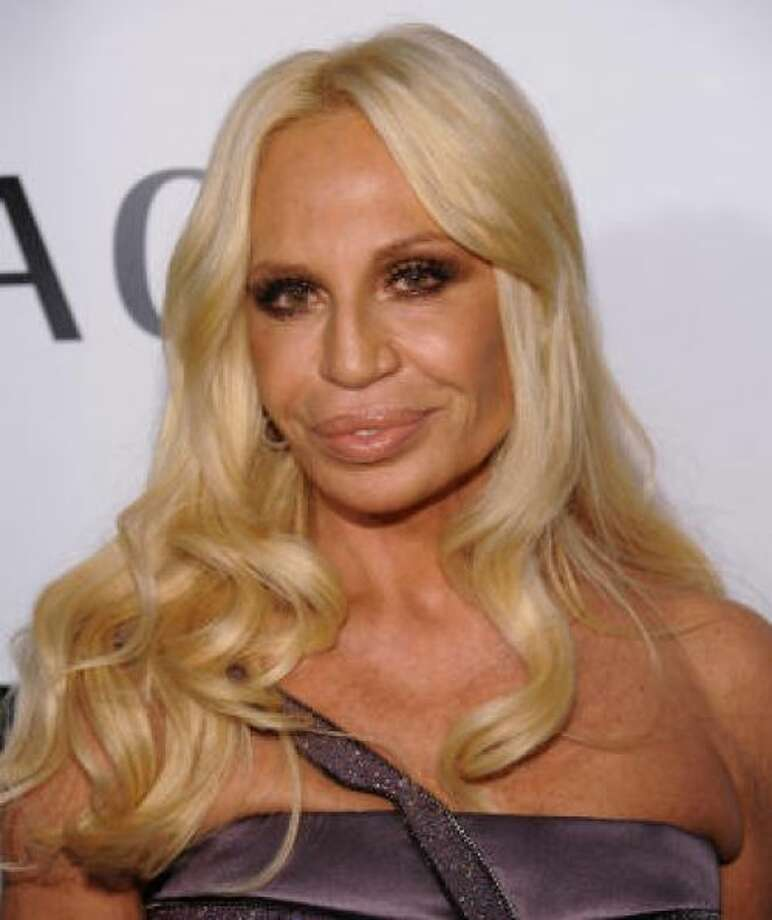 Donatella Versace looks like she's been molded out of plastic. Photo: AP