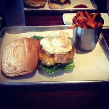 CBQ Eatery, 17327 IH-35 North Schertz: Selma Speed Trap burger and Sweet potato fries. www.eatcbq.com Photo: Photo Courtesy Ryan Taplin