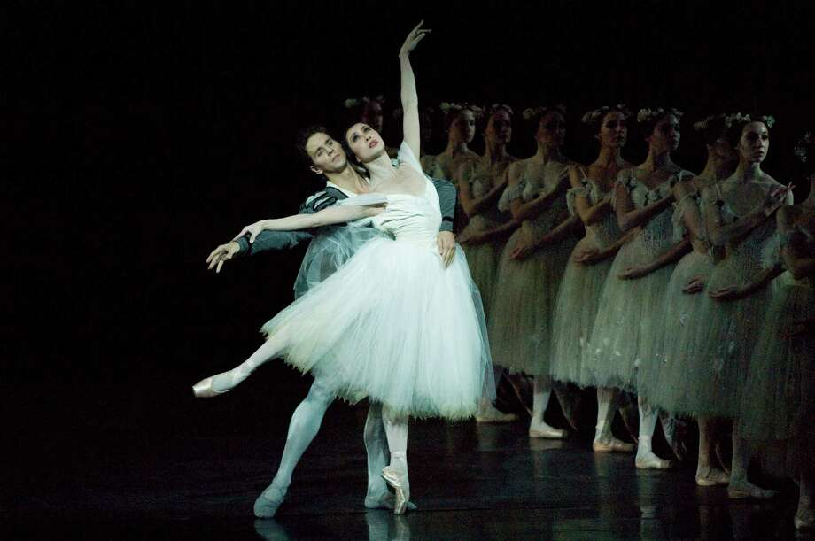 "Xiao Nan Yu and Guillaume Cote in ""Giselle,"" with artists from the National Ballet of Canada. (Photo by David Cooper)"