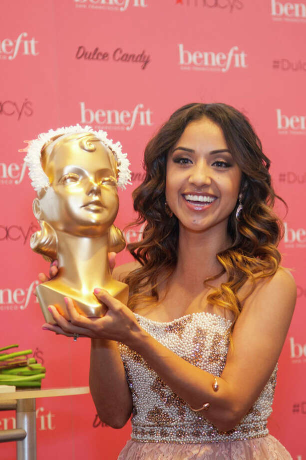 Beauty and fashion blogger (and vlogger) Dulce Candy recently visited Benefit Cosmetics at Macy's to celebrate her 1,000,000 YouTube followers.