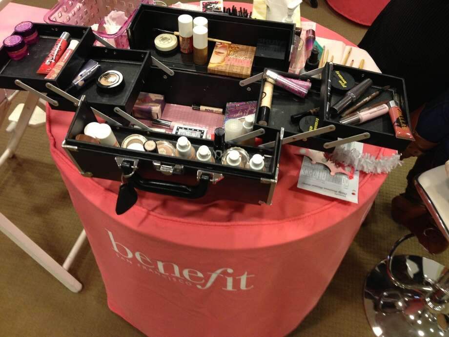 "Benefit Cosmetics hosted ""Dulce Day"" with blogger Dulce Candy at Macy's in Union Square."