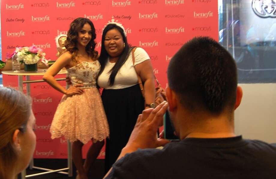 Fans of Dulce Candy celebrated her 1,000,000 followers on YouTube with Dulce Day at Macy's.
