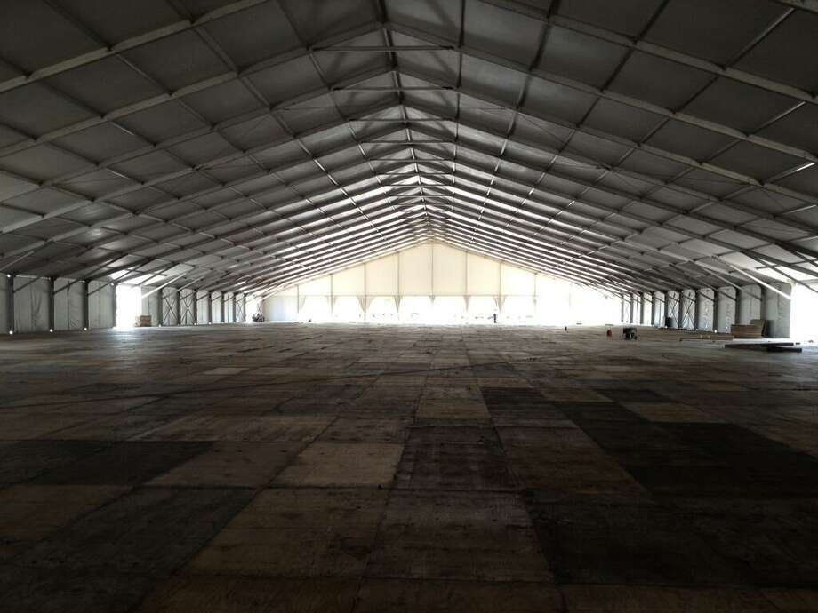 @OTCHouston via Twitter: OTC Pavilion progress... just imagine what this will look like come Monday, 6 May! #OTCHOUSTON