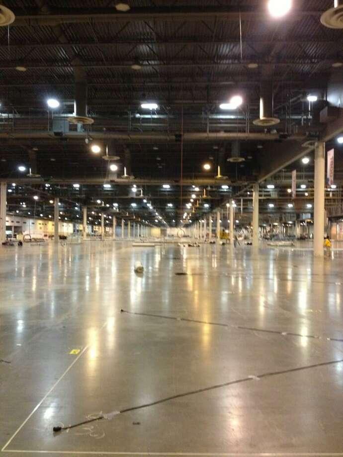 @findmeagan via Twitter: In 10 days this hall will be filled with huge equipment! #OTCHOUSTON  @FMC_Tech  #FMCSchillingRobotics