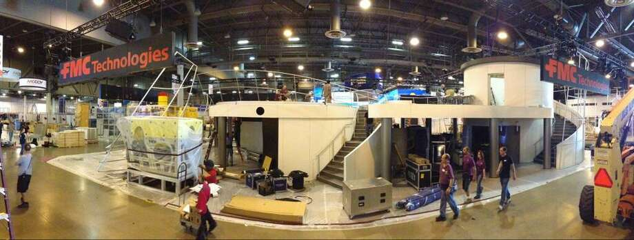 "@FMC_Tech via Twitter: #OTCHouston booth setup is ""rockin!!"" See it live next week, May 6-9"