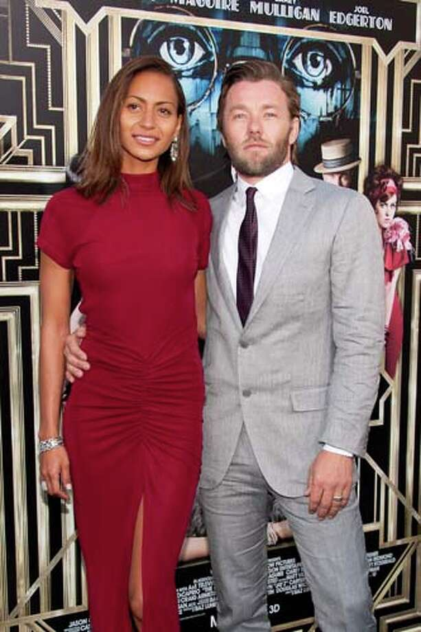 Joel Edgerton and Alexis Blake   Ladies, do not try this dress at home. All that bunching red fabric at the hips is hard to pull off.   The suit: *yawn* Photo: D Dipasupil, FilmMagic / 2013 D Dipasupil
