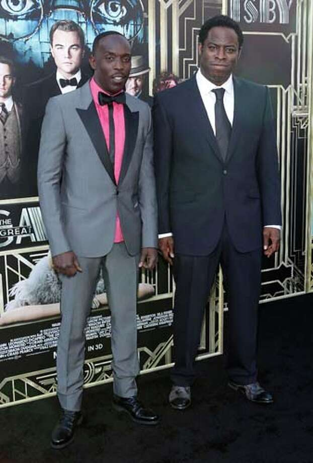 Michael K. Williams and  Jeymes Samuel   Williams is the only male actor who came dressed to impress. Sorry Samuel, if you come at the king you best not miss. Photo: Jemal Countess, Getty Images / 2013 Getty Images