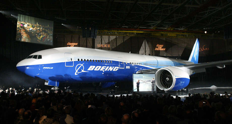 The first Boeing 777-200LR Worldliner is presented to employees and press Tuesday, Feb. 15, 2005 in Everett. Photo: TED S. WARREN, Associated Press / AP