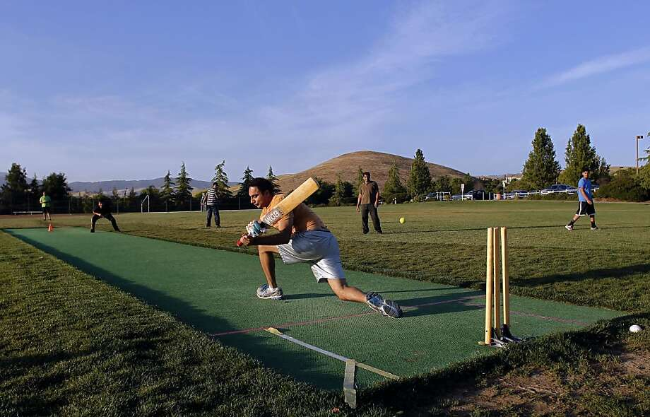 Simran Bedi plays cricket for the Titans in San Ramon. With a booming Asian population, the upscale East Bay suburb now has a league of 20 cricket teams, reflecting the sport's popularity in South Asia. Photo: Michael Macor, The Chronicle