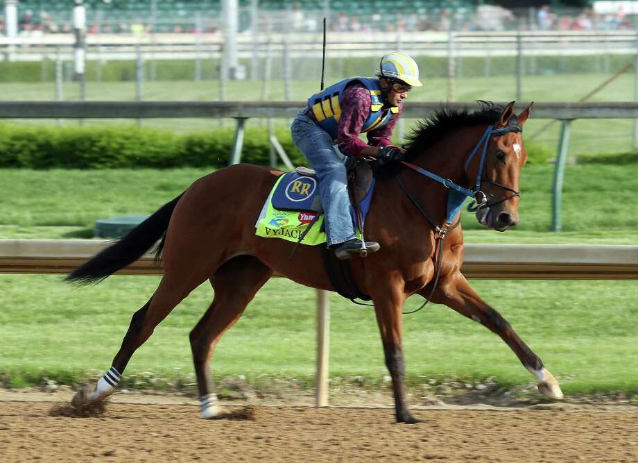 LOUISVILLE, KY - MAY 02: Vyjack runs on the track during the morning training for the 2013 Kentucky Derby at Churchill Downs on May 2, 2013 in Louisville, Kentucky.  (Photo by Andy Lyons/Getty Images) Photo: Andy Lyons