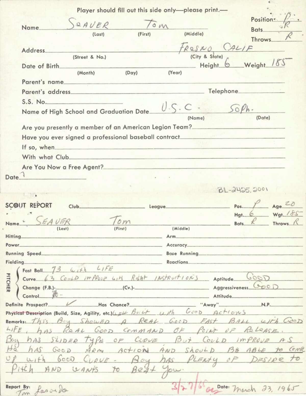 Tom Seaver. (Courtesy Baseball Hall of Fame)