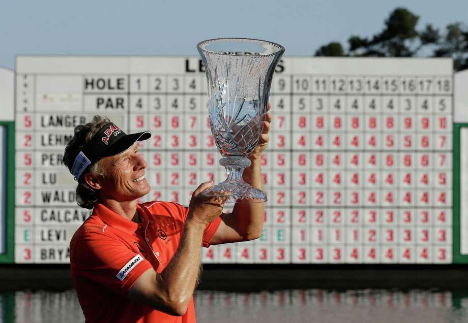 In what is becoming old hat for Bernhard Langer, he raised the winner's trophy for the 18th time during his Champions Tour career last month in Duluth, Ga. Photo: John Bazemore, STF / AP