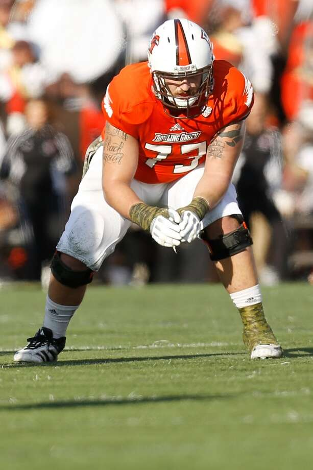 Jordon Roussos, guardCollege: Bowling Green | Height: 6-foot-4 | Weight: 307 pounds  Roussos began at Bowling Green as a defensive tackle, playing in 10 games and recording one sack and nine tackles in 10 games his freshman year. In 2010, he appeared in 10 games and switched from the defensive to offensive line for the final six games of the season, starting at right tackle. Through his junior and senior years, Roussos started every game for the Falcons and earned second-team All-MAC honors in 2012. In March, at Bowling Green's pro day, he completed the 40-yard dash in 5.39 seconds.