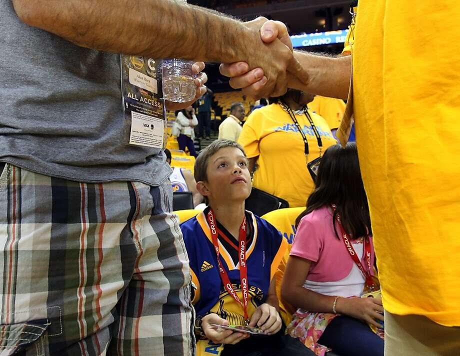 Boston Bombing victim Arron Hern 11 from Martinez was a guest of the Golden State Warriors along with his family Thursday, May 2, 2013 during game 6 of the first round of the NBA playoffs with the Denver Nuggets. Photo: Lance Iversen, The Chronicle