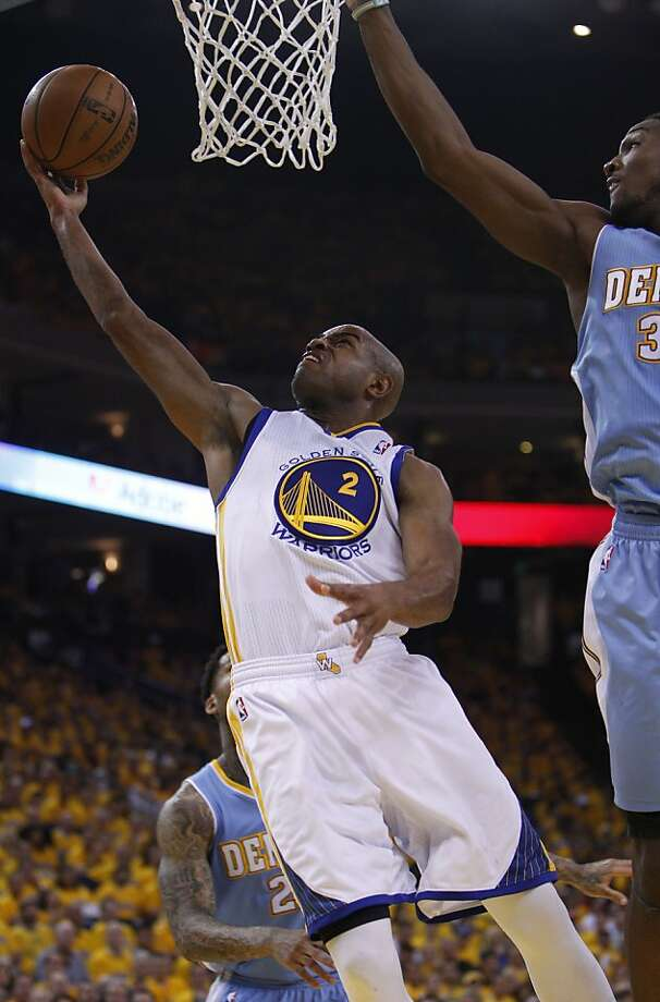 Jarrett Jack (2) goes in for a layup in the first half on Thursday. The Golden State Warriors played the Denver Nuggets in Game 6 of the first round of the NBA playoffs at Oracle Arena in Oakland, Calif., on Thursday, May 2, 2013. Photo: Carlos Avila Gonzalez, The Chronicle