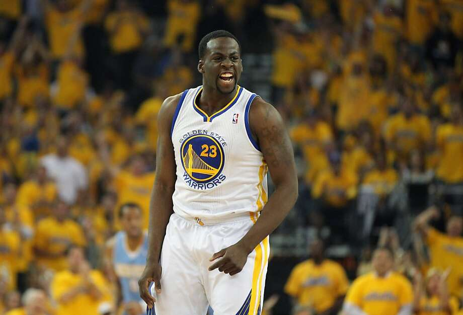 Golden State Warriors Draymond Green (23) celebrates a three point shot in the first half of game 6 of the first round of the NBA playoffs with the Denver Nuggets at Oracle Arena in Oakland, Calif., on Thursday, May 2, 2013. Photo: Lance Iversen, The Chronicle