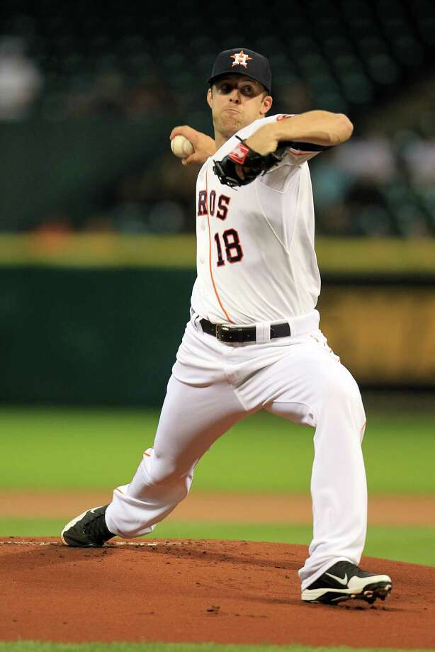 After a Class AAA stint, Jordan Lyles threw five strong innings in his 2013 debut in the majors. Photo: Karen Warren, Staff / © 2013 Houston Chronicle