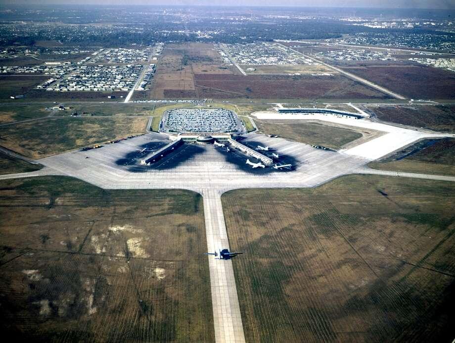 Houston International Airport, now Hobby Airport, 1950s.