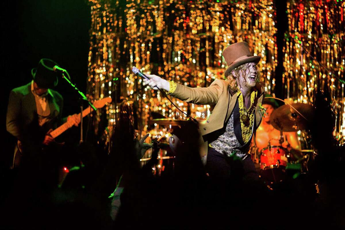Washington-local soul singer Allen Stone, 25, and his band perform on the first of two nights of his prom-themed concert mini series Thursday, May 2, 2013, at The Crocodile in Seattle. The 2013 Bumbershoot lineup was announced in the middle of Stone's set. The second prom-themed show will take place at The Crocodile on Friday evening.
