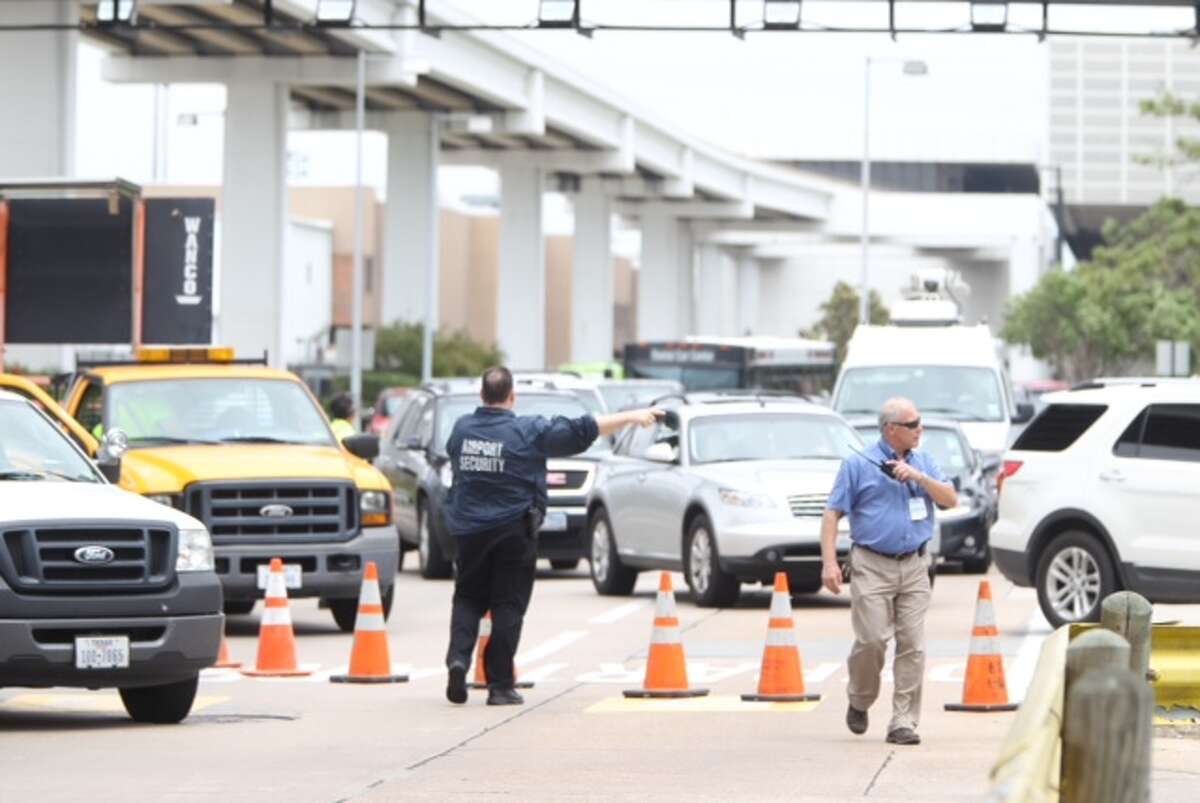 Shots were fired Terminal B at Bush Intercontinental airport in Houston on Thursday, May 2, 2013.