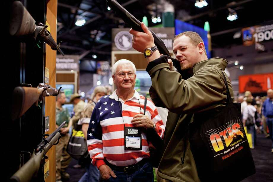 The 142nd NRA annual national meeting in downtown Houston will feature more than 550 exhibitors, speakers, educational seminars and firearms collections. Photo: Whitney Curtis, Stringer / 2012 Getty Images