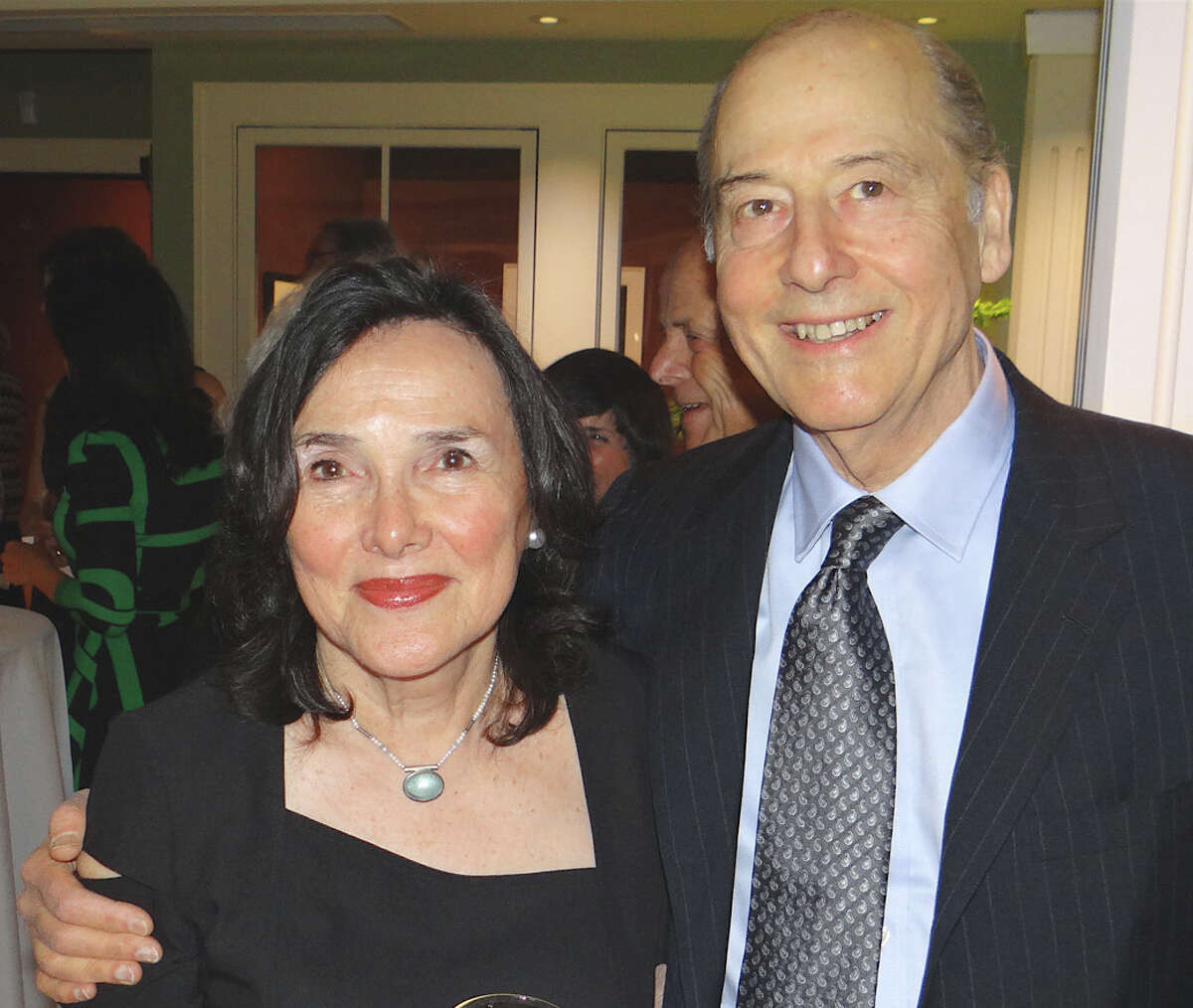 Internationally celebrated photographer Philip Trager and wife Ina, of Fairfield, at the Thursday opening reception for the Fairfield Museum and History Center's IMAGES 2013 exhibit, in which Trager's work is featured.