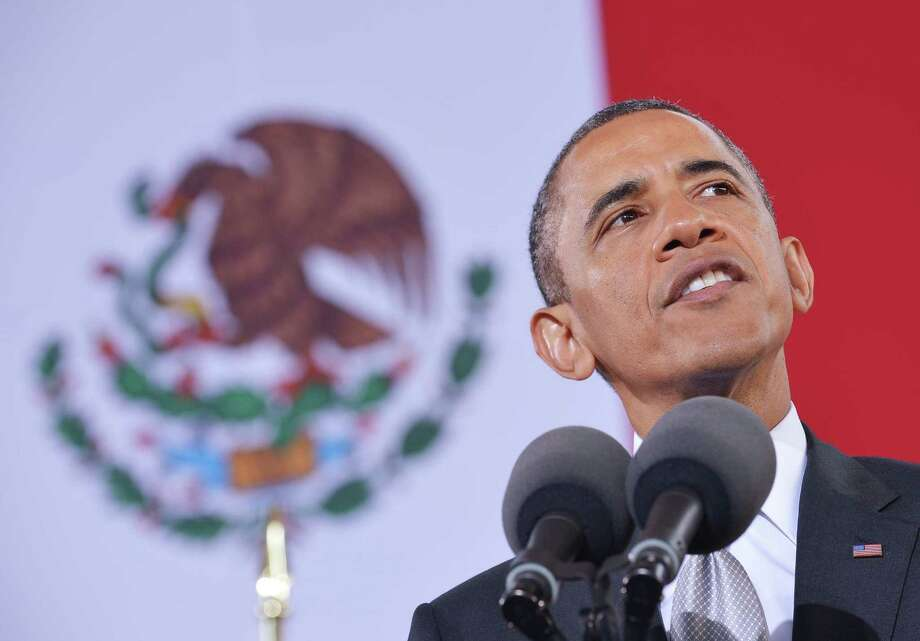 US President Barack Obama speaks on at the National Anthropology Museum on May 3, 2013 in Mexico City. AFP PHOTO/Mandel NGANMANDEL NGAN/AFP/Getty Images Photo: MANDEL NGAN, AFP/Getty Images / AFP
