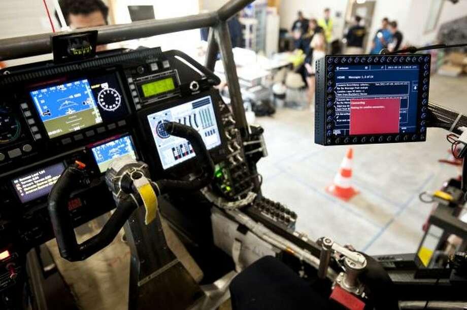 The cockpit of the Solar Impulse. Photo: Jean Revillard, Solar Impulse