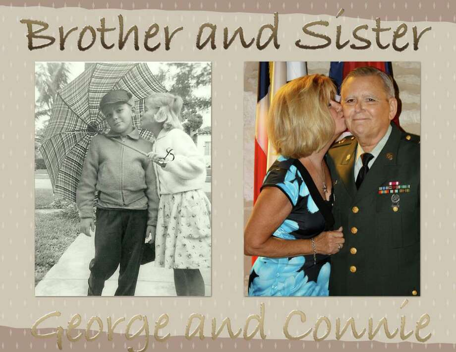 My mom and sister went to visit my aunt and she gave them this photo of when they were young.  My baby sister remembered the picture of my aunt and my dad at my wedding in October 2011 and put the two together. The original was taken in Coral Gables, FL around 1954 and the recent one was taken here in San Antonio at The Little Church of La Villita in 2011. Photo: Courtesy Audrey Foy