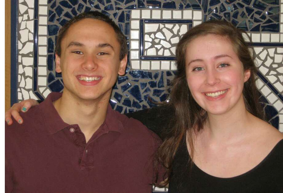 Madeline Seidman, right, has been named valedictorian of Staples High School's Class of 2013. Robert DeLuca, left, is the salutatorian. Photo: Contributed Photo / Westport News contributed