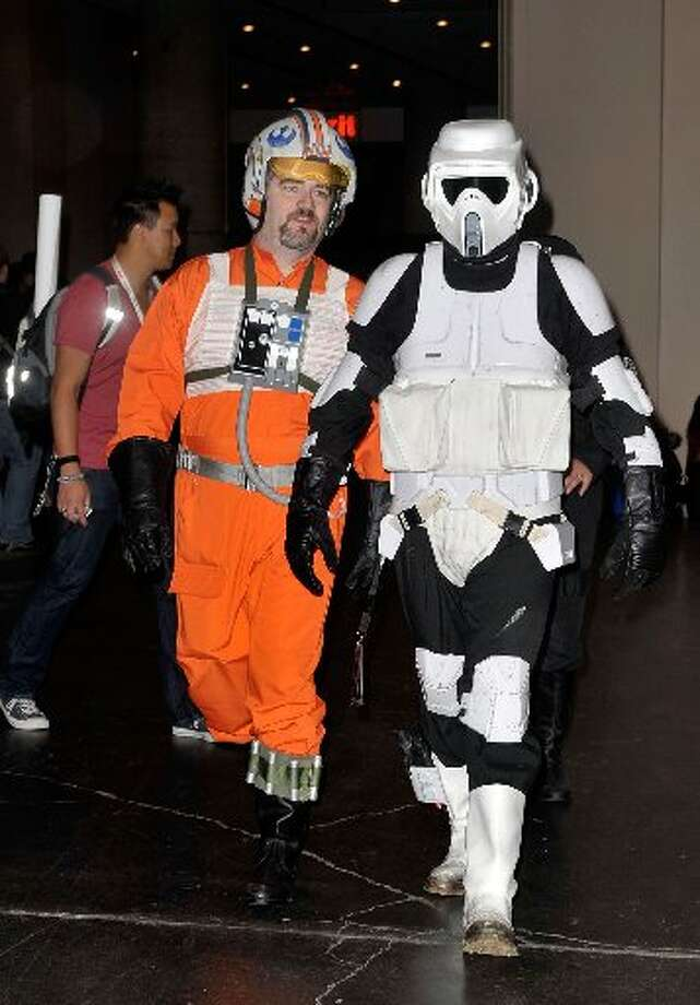 Comic Con is a great place for Star Wars fans to dress up.