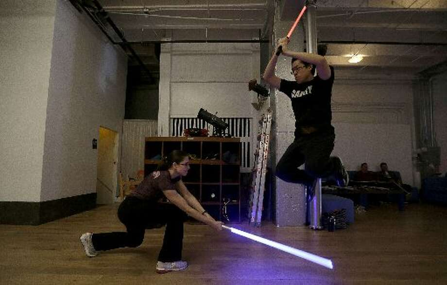 Light saber class is in session.