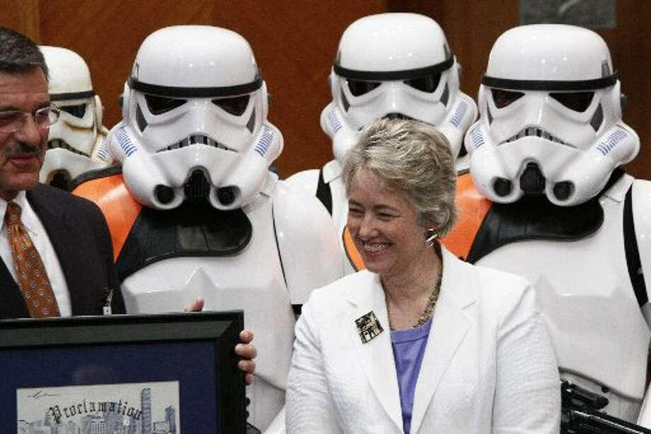 Mayor Annise Parker is an honorary storm trooper.