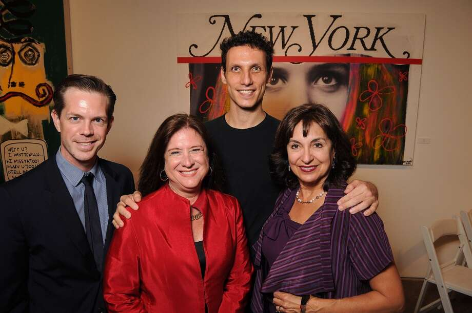 "Dominic Walsh, from left, co-chair Deborah Colton, Domenico Luciano and co-chair Mady Kades at Dominic Walsh Dance Theater's ""Empire State of Mind"" fundraiser at Deborah Colton Gallery."