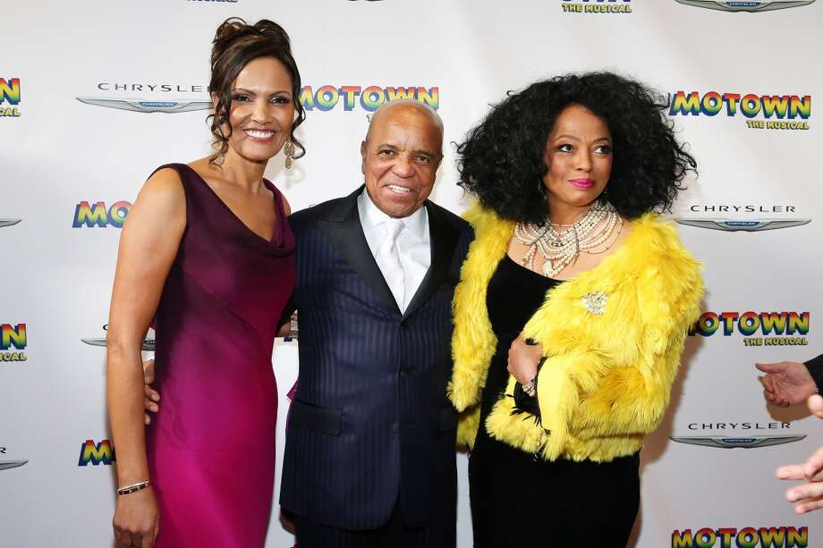 "Eskedar Gobeze, Berry Gordy Jr and Diana Ross attend the Broadway opening night for ""Motown: The Musical"" at the Lunt-Fontann Theatre on April 14, 2013, in New York City. Ross is expected to perform at the Palace Theatre in Stamford Aug. 17, 2013. Neilson Barnard/Getty Images"