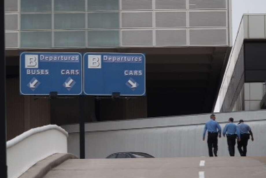 Shots were fired Terminal B at Bush Intercontinental airport in Houston on Thursday, May 2, 2013. Photo: Karen Warren