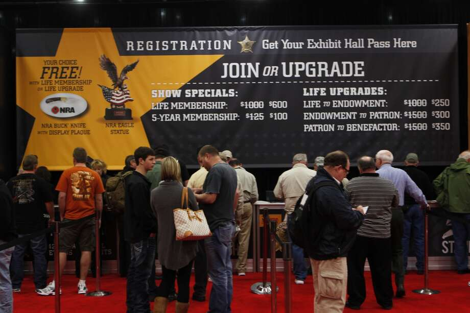 Convention goers filled the George R. Brown Center in Houston on Friday, May 3, 2013 for the 2013 NRA Convention.