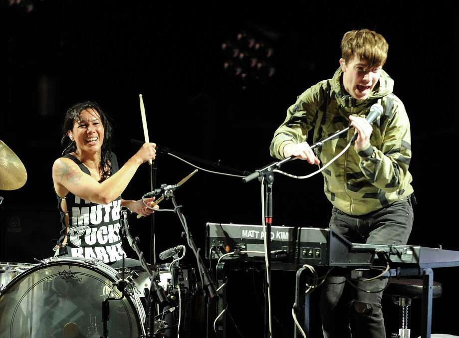 Matt & Kim, pictured in 2011.  (Photo by C Flanigan/WireImage) Photo: C Flanigan, Getty Images / 2011 C Flanigan