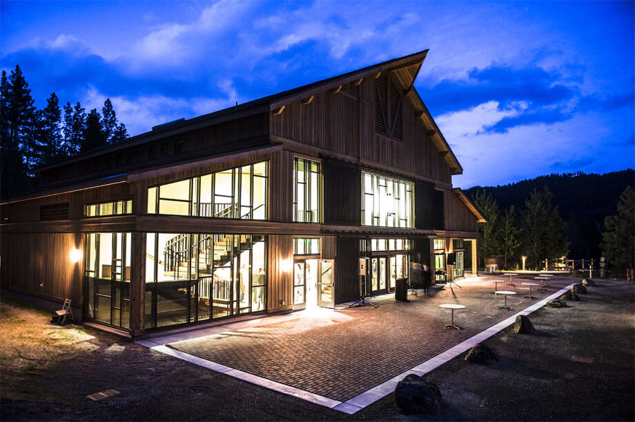 The Snowy Owl Theater, a 240-seat energy efficient venue, that recently opened at the mouth of the Icicle Canyon outside of Leavenworth.  The design was meant to compliment its mountain setting.  Shane Wilder/Icicle TV. Photo: Shane Wilder/ Icicle TV
