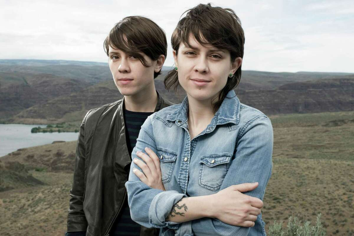 Sara Quin and Tegan Quin of Tegan and Sara, pictured in 2010. (Photo by Steven Dewall/Redferns)