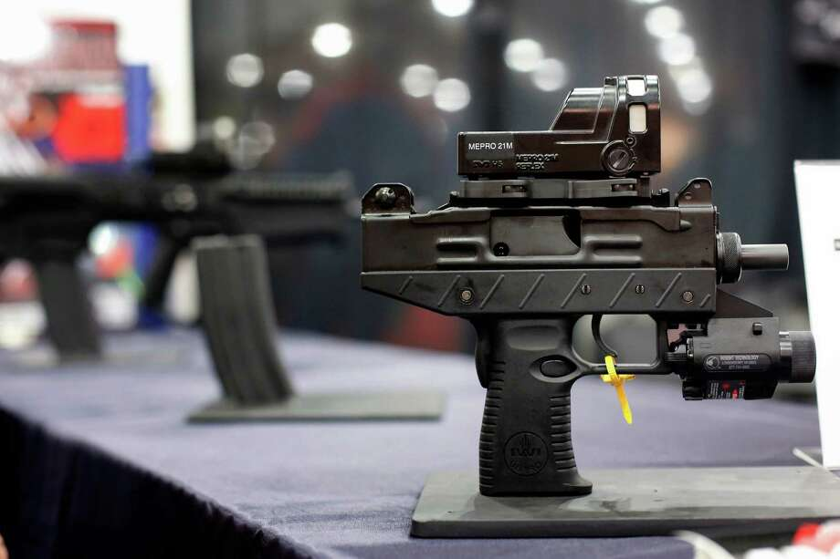 A mini-uzi is seen, during day 1 of the 142nd NRA annual meetings and exhibits, Friday, May 3, 2013 at the George R Brown convention center in  (TODD SPOTH FOR THE CHRONICLE) Photo: © TODD SPOTH, 2013 / © TODD SPOTH, 2013