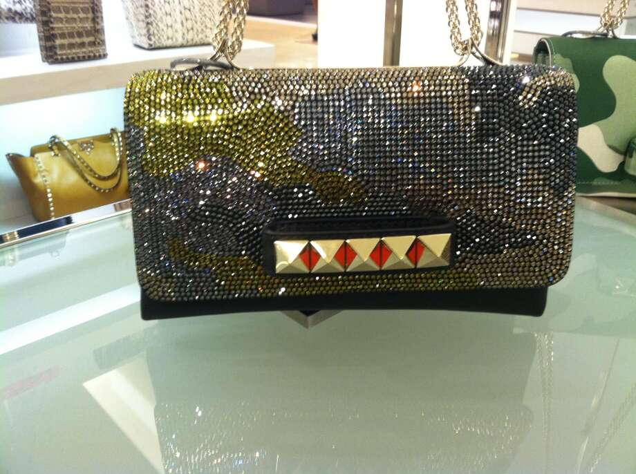 Valentino Camouflage Swarovski Crystal Bag