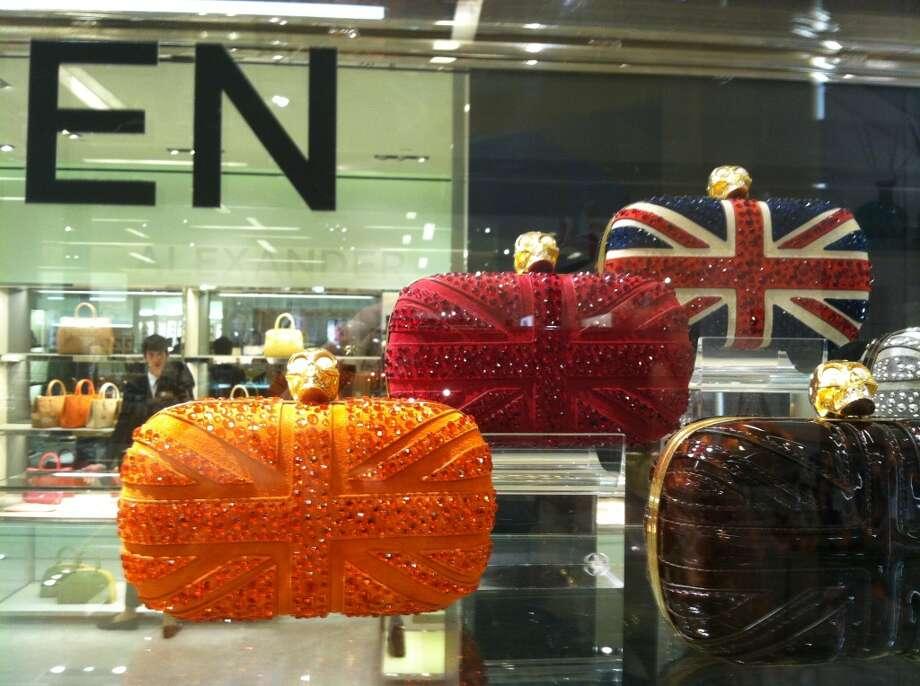 Alexander McQueen Crystal Britannia Skull Box Clutches