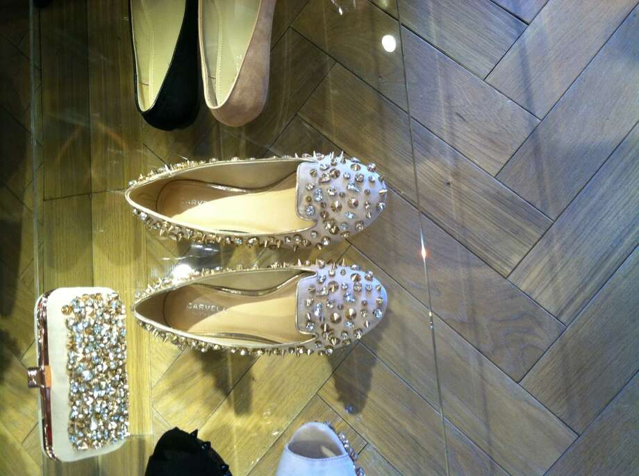 Kurt Geiger Ballet Crystal & Stud Flats and Clutch