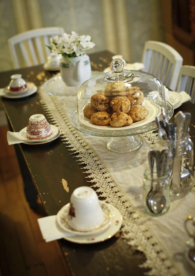 Dartealing Lounge has array of offerings from scones to full-on tea service with sausage rolls and pasties. Photo: Russell Yip, The Chronicle
