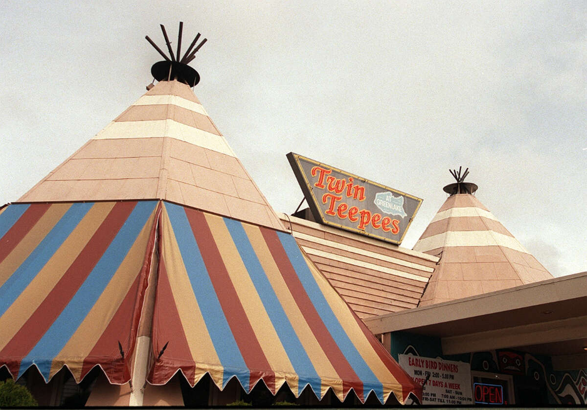 Opened in 1937, the Twin Teepees, on Aurora Avenue North near Green Lake, was razed after a fire in 2000. It was part of a vanishing generation of roadside businesses and a one-time workplace of cook Harland Sanders, of Kentucky Fried Chicken fame. There's a legend that he perfected KFC's fried-chicken recipe at the Teepees, but it's never been proven.
