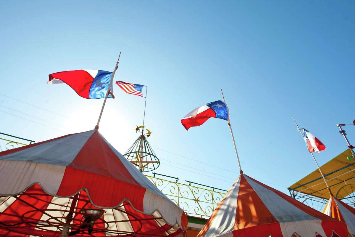 The Orange Show was opened in 1979 by postal worker Jeff McKissack, who built the structure of walkways, balconies and arenas using found materials.